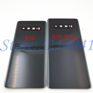 Image 3 - 10 ピース/ロットガラスバッテリーカバーバックドアハウジングケースサムスンギャラクシー S10 プラス S10e S10 S10 + G970 G9730 g9750 とカメラレンズ