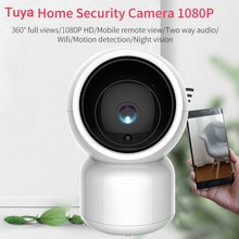 1080P Tuya WiFi IP Camera with Pan-Tilt Zoom Two Way Audio Video Indoor Camera Baby Care Amazon Alexa Google Home Voice Control