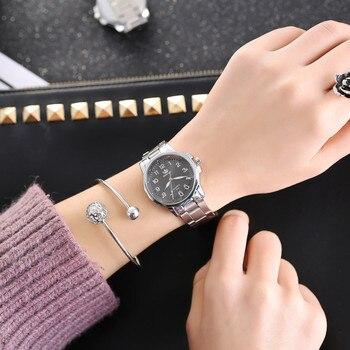 Luxury Women Quartz Wristwatch Fashion Stainless Steel Digital Scale Analog Quartz Watch Ladies Small Dial Watch Zegarek Damski