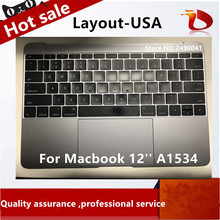 """Gold/Gray Grey/Silver/Rose Gold Colorfull Topcase Keyboard with Touchpad for Macbook 12"""" A1534 US English USA 2015"""