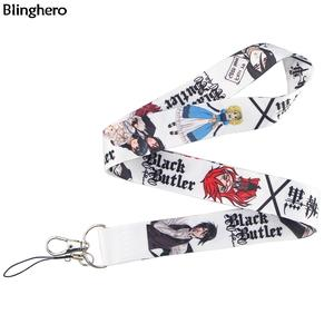 Lanyards Anime Keychains Phone-Holder Hang-Rope Neck-Strap Usb-Badge Id-Card Cool-Keys