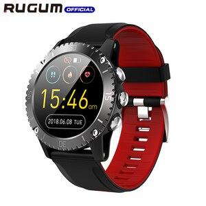 Image 2 - Impermeabile 3ATM di Nuoto di sport della vigilanza di Bluetooth Inseguitore di Fitness Aria Pressione della Frequenza Cardiaca di Musica Intelligente Della Vigilanza Degli Uomini di RUGUM Z1
