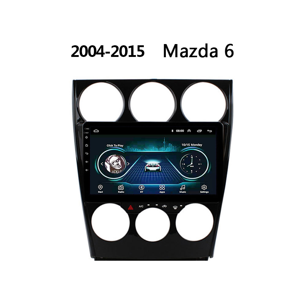 car radio for Old <font><b>Mazda</b></font> <font><b>6</b></font> DVD 2004-2008 2015 Support Steering Wheel Control <font><b>GPS</b></font> navi <font><b>system</b></font> support BOSE FM Android 8.1 no 2 din image