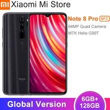 Глобальная версия Xiaomi Redmi Note 8 Pro 6 ГБ 128 Гб Смартфон 64-мегапиксельная четырехъядерная камера 6,53