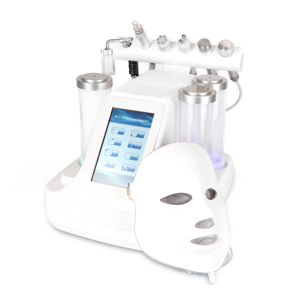 7 In 1 Hydra Dermabrasion Peel Clean Skin Care BIO Light RF Vacuum Face Skin Cleaning Hydro Water Oxygen Jet Peel Machine