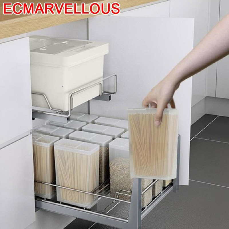 Pantries Accessories Almacenaje Armario Platos Kuchnia Stainless Steel Rack Cozinha Organizer Kitchen Cabinet Storage Basket