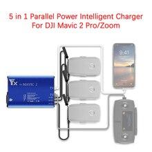 Per DJI Mavic 2 Pro/Zoom Drone batteria telecomando 5 in 1 caricabatterie intelligente con alimentazione parallela accessori adattatore per Hub di ricarica