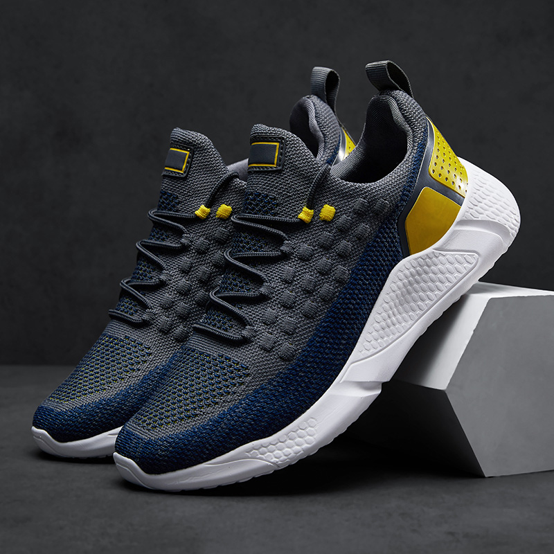 Brand Running Shoes Men Fashion Mesh Sneakers Sports Shoes Lace-Up Lightweight Shoes Male Zapatos De Mujer Training Trainers Men