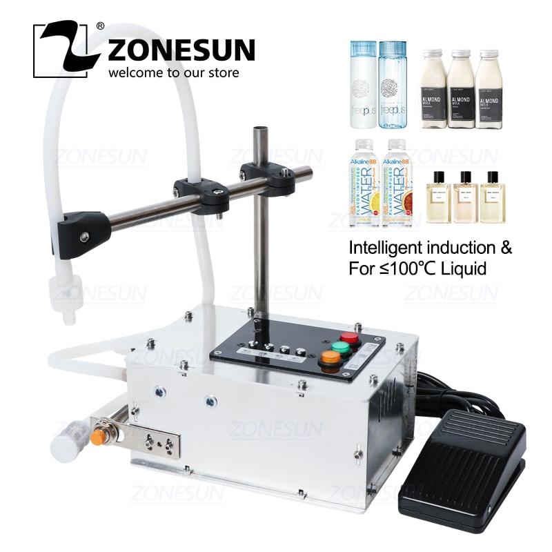 ZONESUN Intelligent Induction Liquid Filling Machine Small Liquid High-precision Heat-resistant Filling Machine