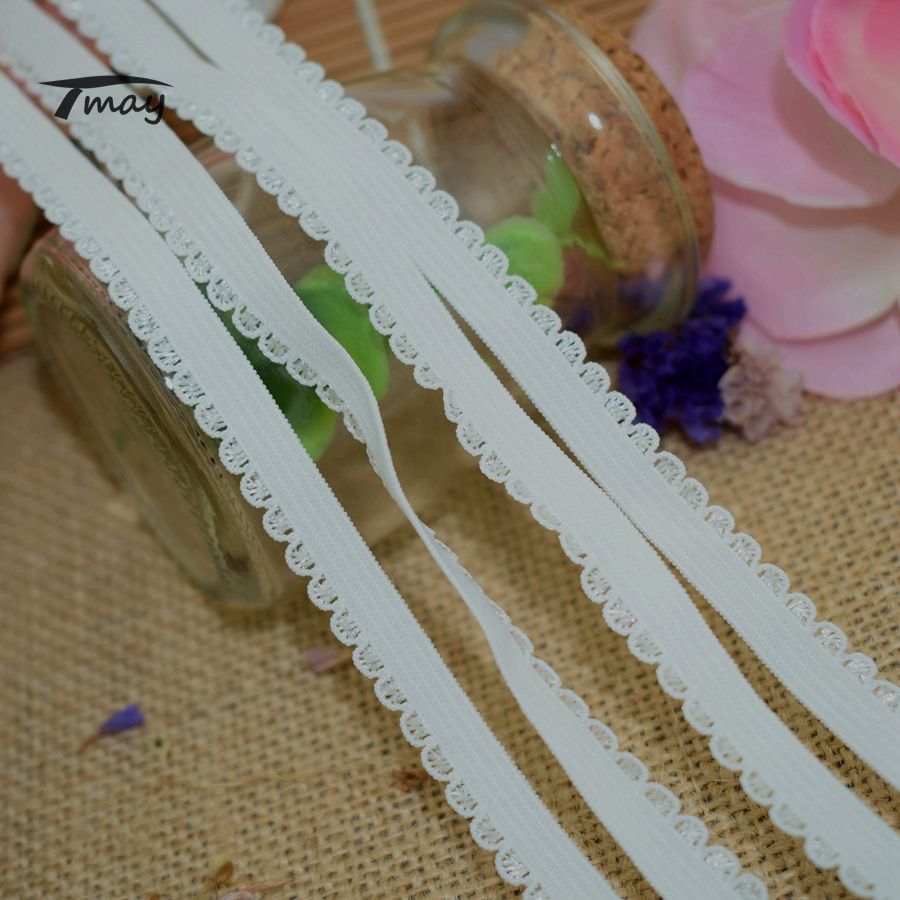 #349 Fashion Cream White Color Edge Elastic Bands Rubber Bands For Headbands Lace Trim Elastic Ribbon Baby Girl Pants Stripe