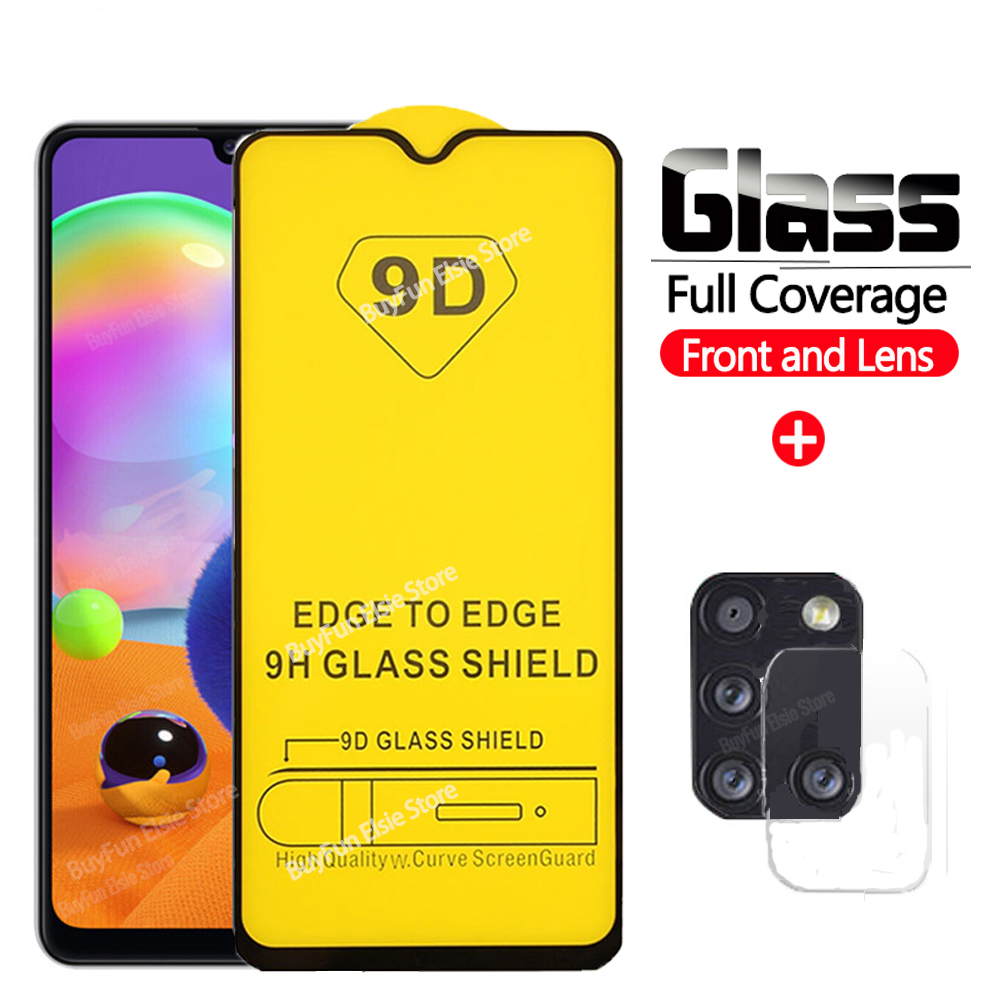 2 In 1 9D Camera Lens + Screen Protector On For Samsung Galaxy A31 Protective Glas For Samsung A 31 A315 Tempered Glass Film