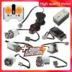 Technic parts motor multi power functions tool servo blocks train 8293 8883 motor PF model sets building Compatible All Brands(China)