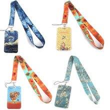LX478 Van Gogh чехол для карты ремешок на шею веревка для мобильного телефона держатель для ID карты с брелоком для ключей