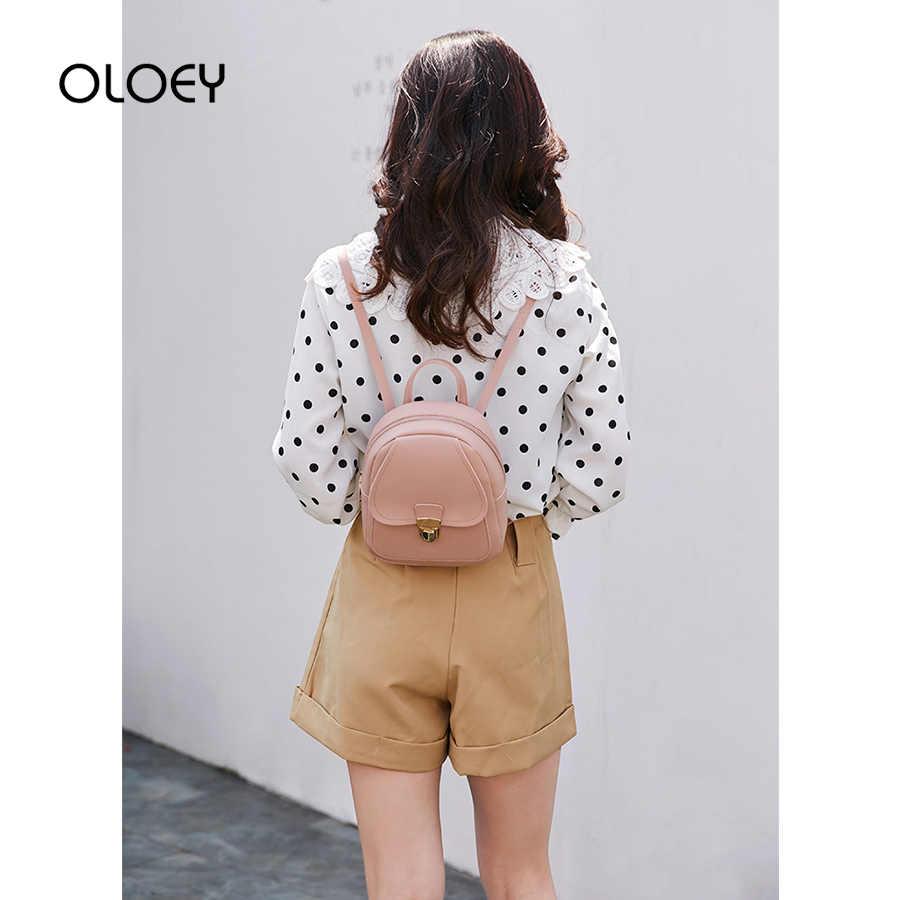 Mochila de couro das mulheres 2019 nova moda coreana feminino bagpack bonito pequena senhora sacos de ombro para adolescentes mini mochila sac
