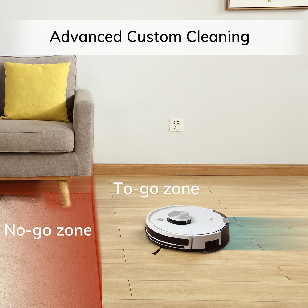 ILIFE L100 robot vacuum cleaner, LDS laser navigation, carpet pressurization, Smart Planned WIFI App Remote Control,Draw Clean 3