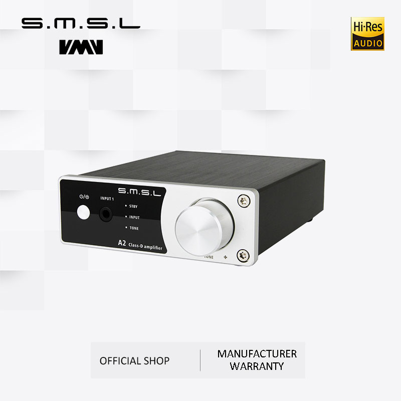 New SMSL A2 Audio Digital Home Theater Amplifier ,support 2 RCA Inputs And 3.5mm Headphone Jack Input
