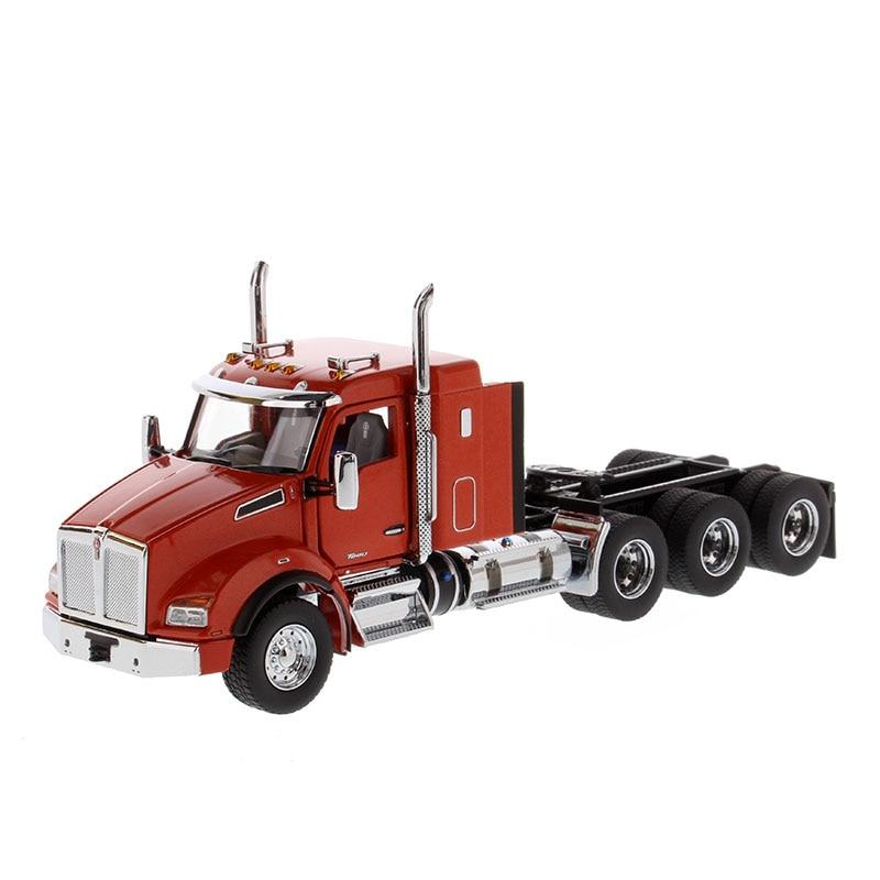 Diecast 1/50 skala Kenworth T880 ciągnik amerykańska duża ciężarówka symulacja stopu Model metalowy wyświetlacz dekoracji pokaż zabawka ozdobna