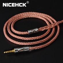 NICEHCK – câble d'écouteurs filaires pour téléphone, C16-3, 16 cœurs, en cuivre de haute pureté, 3.5mm, 2.5mm, 4.4mm, prise MMCX, connecteur QDC NX7 à 2 broches