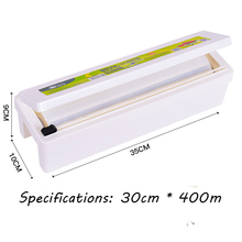 Cling film and cling film cutting box combination set PE food grade cling film is transparent best price stainless steel cling film sealing machine food fruit vegetable fresh film wrapper cling film sealer packaging