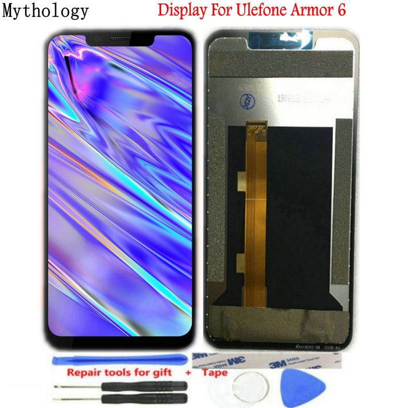 "For Ulefone Armor 6 Display Digitizer Touch screen Replacement Digitizer LCD For Armor 6 6.2"" Helio P60 Mobile Phone LCDs"