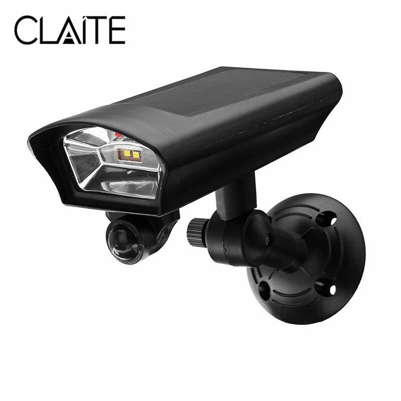 CLAIR LED Street Light Power PIR Motion Sensor Solar Light Spotlight Outdoor Garden Yard Simulation Monitoring Security Lamp