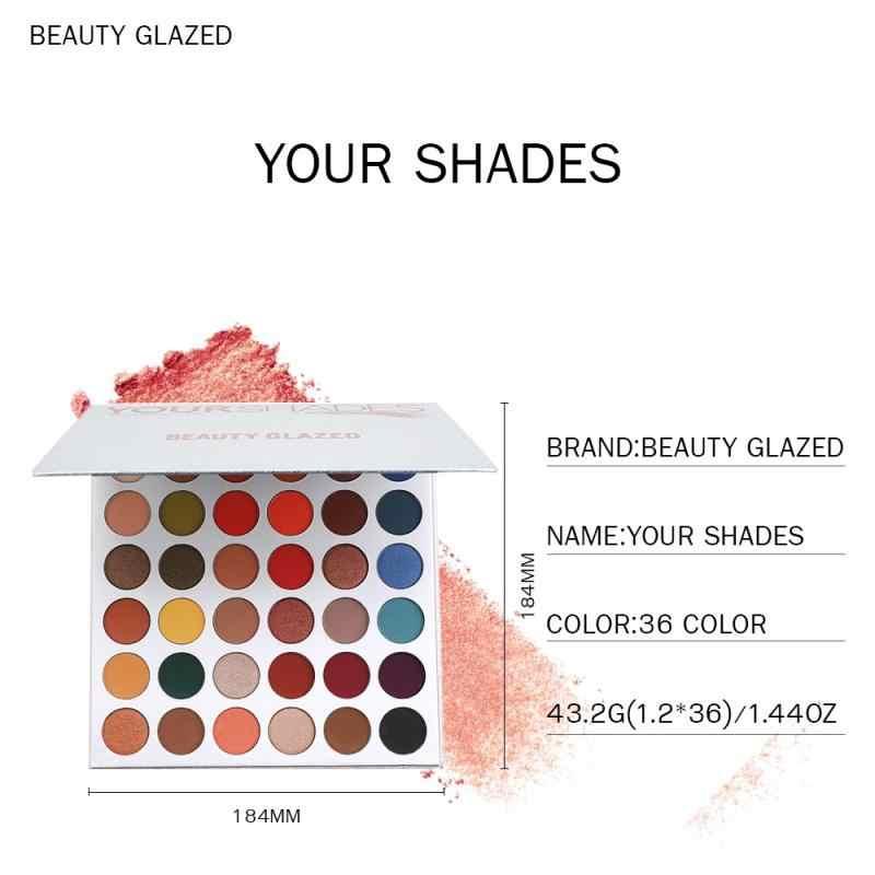 ความงามเคลือบ Matte Eyeshadow Palette Glitter กันน้ำสี Eye Shadow Palette Shimmer แต่งหน้า Maquillaje เครื่องสำอาง TSLM1