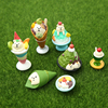Japanese Food Simulation Ice Cream Miniature Mini Animal Cute Bear Family Collectible Gift Home Decoration Accessories Food Toy 1