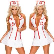 Feminino trajes exóticos uniformes bonitos sexy tentação sexy underwer camisola enfermeira roupas de empregada doméstica uniforme lingerie erótica