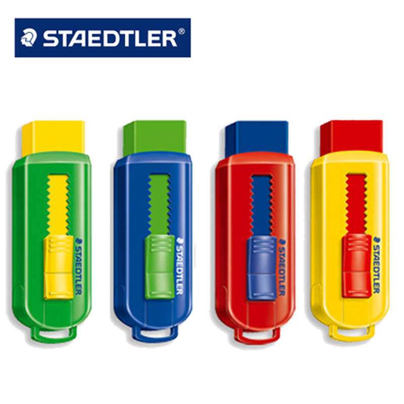 4pcs STAEDTLER 525 PS1 Colored Pencil Eraser PVC FREE Eraser For Kids Stationery School Office Supplies Sketch Drawing Erasers
