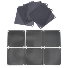 12Pcs Computer Mesh PVC PC Case Fan Cooler Dust Filter Case Dustproof Cover Chassis Dust Cover, 6Pcs 9cm & 6Pcs 8cm(China)