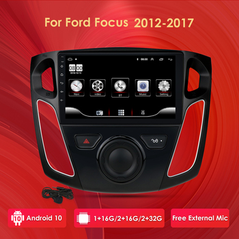 Android 10 2GB RAM 2 din 9 Inch Car Radio Multimedia Video Player For Ford Focus 2012-2017 Navigation GPS autoradio Mirror Link image