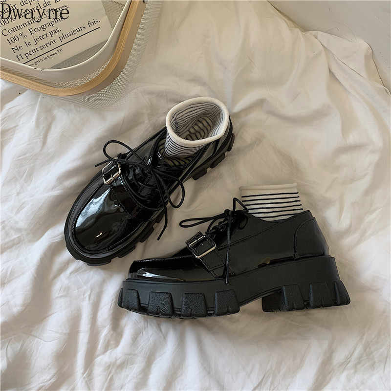 2019 new British wind small shoes women spring and autumn ins retro students wild summer ulzzang single shoes