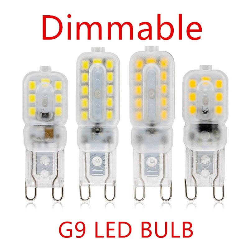 10 pçs lâmpada led 3w 5 g9 lâmpada regulável ac 220v led smd2835 spotlight iluminação lustre substituir 20w 30 lâmpada de halogênio