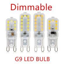 10 шт. светодиодный лампы 3W 5W G9 светильник накаливания с регулируемой яркостью AC 220V Светодиодный светильник SMD2835 Точечный светильник люстра ...