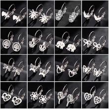 Sasusp Women Earings Fashion Jewelry 2019 Big Stainless Steel Earrings With Charm Butterfly Heart El