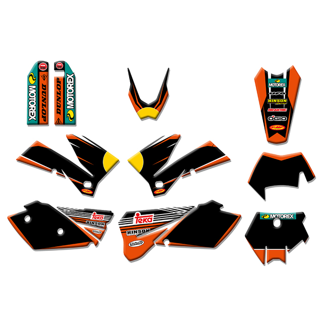 2 styles Team Graphics Stickers Decals Deco Kit For KTM 125 200 250 300 400 450 525 540 SX XC EXC MXC XCF XCW 2005 2007