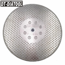 цена на DT-DIATOOL 1pc M14 Flange Dia 230mm/9inch Both Side Electroplated Diamond Saw Blade Granite Marble Tile Cutting & Grinding Disc