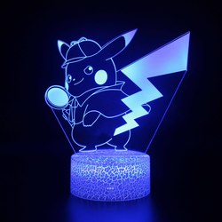 3D USB akrylowe Pokemon lampki nocne pulpit bombki lampy LED stół biurko sypialnia dekoracje biurowe prezent kolorowa lampa Ornament w Błyszczące oświetlenie od Lampy i oświetlenie na