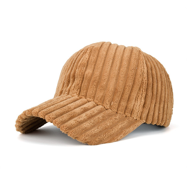 Fashion Winter Solid Color Thick Corduroy Baseball Cap Female Winter Plush Thickening Student Warm Cap Couple Baseball Caps