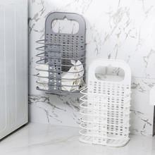 Пластиковые корзины для хранения белья ручки одежда настенная