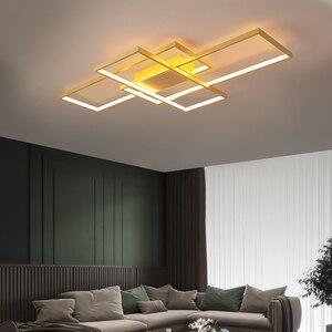 Image 1 - NEO Gleam New Arrival Black/White LED Ceiling Chandelier For Living Study Room Bedroom Aluminum Modern Led Ceiling Chandelier