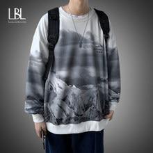 Sudaderas con capucha informales para hombre, ropa de calle holgada con estampado Harajuku de gran tamaño, moda coreana, Primavera
