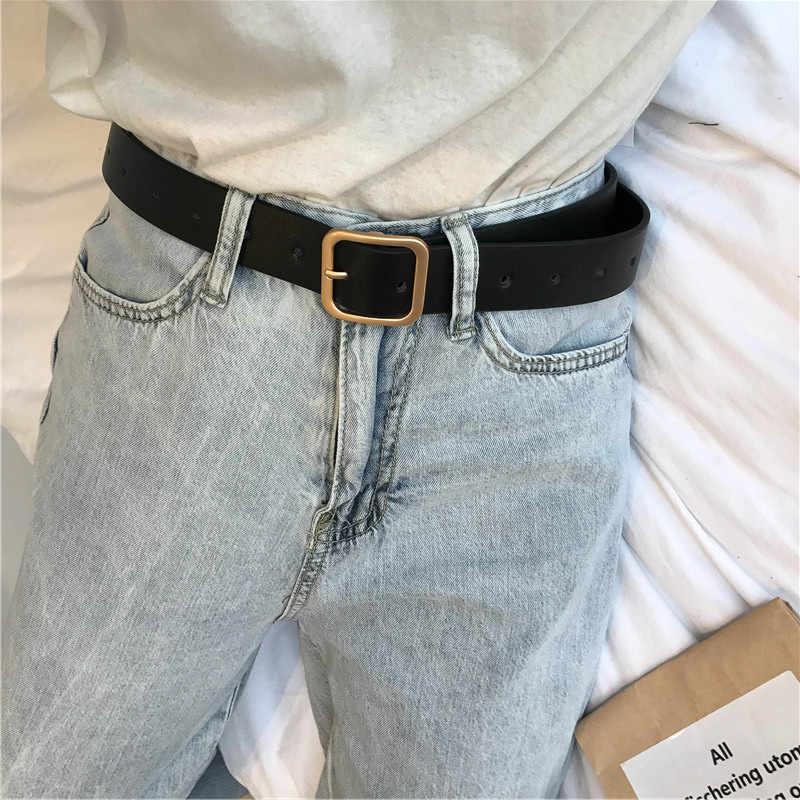2020 nuovo cinghia delle signore square classic pin fibbia di modo selvaggio dei jeans delle signore cinghia genuina della cinghia di qualità semplice di modo alla moda delle signore della cinghia