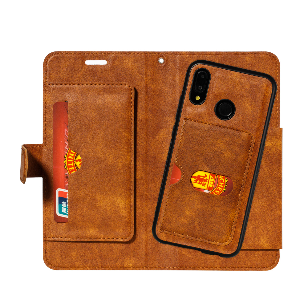 2 in 1 Detachable Leather Wallet Flip Case For HuaWei P20 Lite P30 Mate 20 With Card Slots Back Cover in Wallet Cases from Cellphones Telecommunications