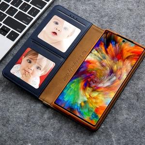 Image 5 - Gizli rotasyon kartları tutucu cüzdan kılıf Samsung S20 Ultra not 10 + 8 9 S8 S9 S10 artı S7 kenar Flip deri telefon kılıfı çapa