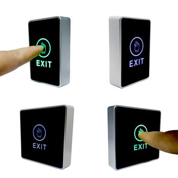 Niebieski zielony wskaźnik LED Push Touch przycisk wyjścia drzwi wyjście przycisk zwalniający System kontroli dostępu tanie i dobre opinie gzpzdp CN (pochodzenie) Exit Button Plastic 3A 12VDC Maz 86x55x20mm NO NC COM 86x86x20mm