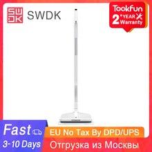 SWDK D260 mopa eléctrica para el hogar, limpiador eléctrico inalámbrico de mano, limpiadoras de ventana hasta el suelo, aspiradora para escoba húmeda