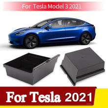Dla Tesla Model 3 2021 Organizer na podłokietnik taca konsoli środkowej dla Tesla Model Y 2021 wyposażenie wnętrz flokowany schowek tanie tanio Henrytai CN (pochodzenie) Pojemnik w podłokietniku Flocking+ABS For Tesla Model 3 2017-2020 For Tesla Model 3 2021 For Tesla Model Y 2021