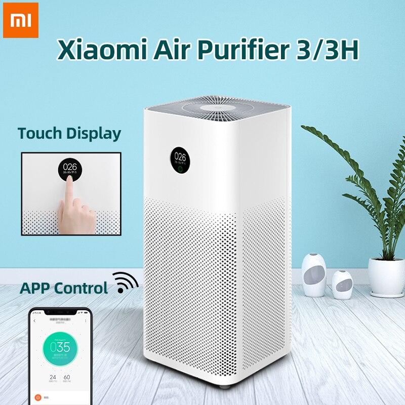 Xiaomi mi очиститель воздуха 3 очиститель автоматический домашний освежитель воздуха детектор дыма Hepa фильтр mi JIA APP пульт дистанционного управления PM2.5 дисплей