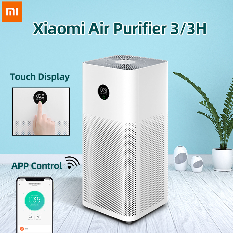 Xiaomi Mi Air Purifier 3 3H Cleaner Automatic Home Air Fresher Smoke Detector Hepa Filter MIJIA APP Remote Control PM2.5 Display|in-ear earphone|universal earphoneearphone for phone - AliExpress